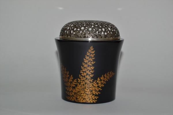 漆塗香炉純銀ホヤ竹裏 (2)