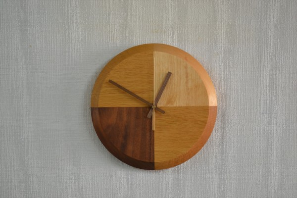 手作り木製時計②